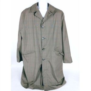 Brigadier By Curlee Men's Trench Coat 44 R Brown
